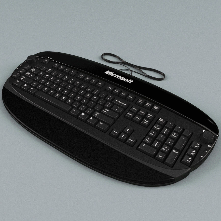 Microsoft Reclusa Keyboard royalty-free 3d model - Preview no. 5