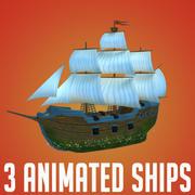 3 Ships 3d model