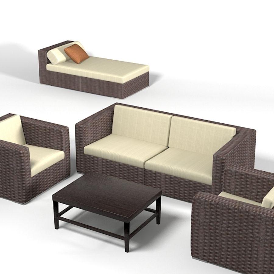 Admirable Dedon Wicker Wowen Furniture Set Sofa Chair Archair Chaise Machost Co Dining Chair Design Ideas Machostcouk