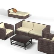 Dedon Wicker wowen家具沙发椅扶手椅贵妃椅户外露台 3d model