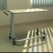Hospital bedside table 3d model