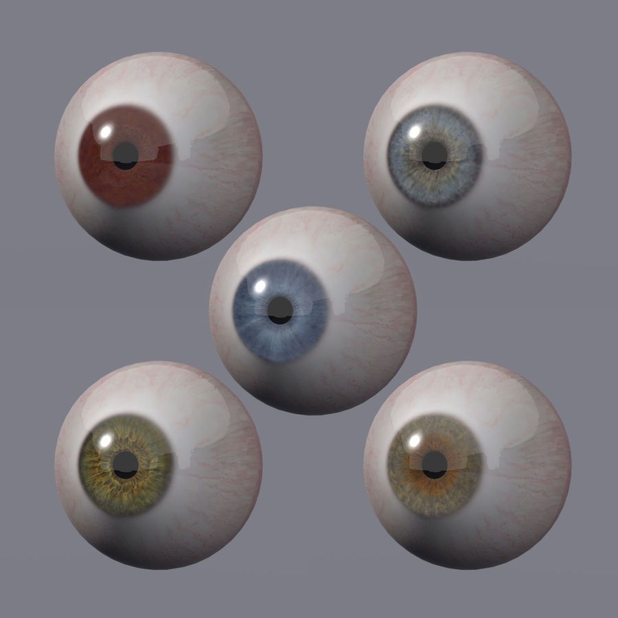 Realistic 3d Eyes royalty-free 3d model - Preview no. 2