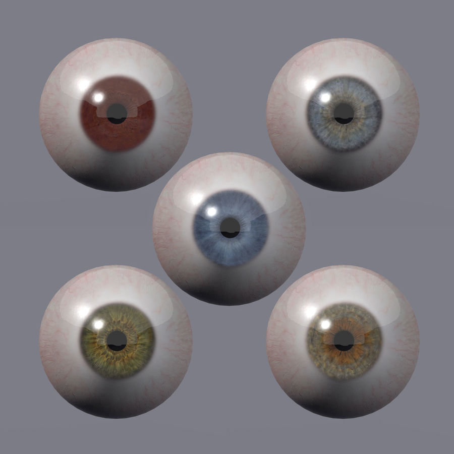 Realistic 3d Eyes royalty-free 3d model - Preview no. 1