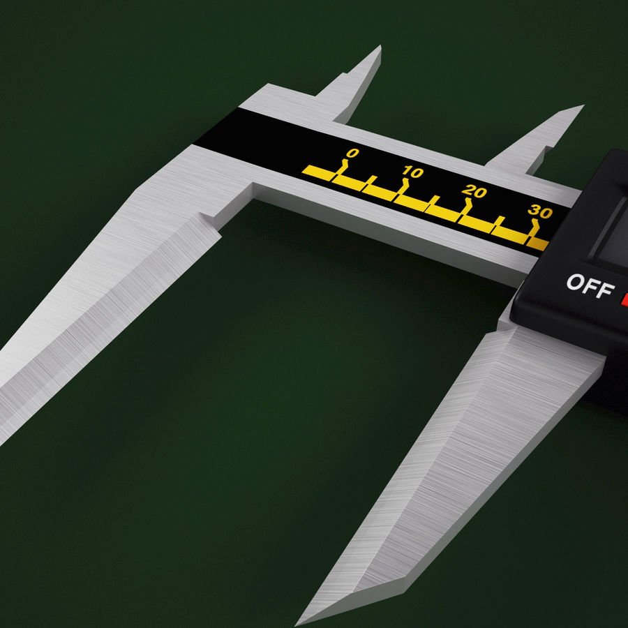 Compasso de calibre digital eletrônico royalty-free 3d model - Preview no. 12