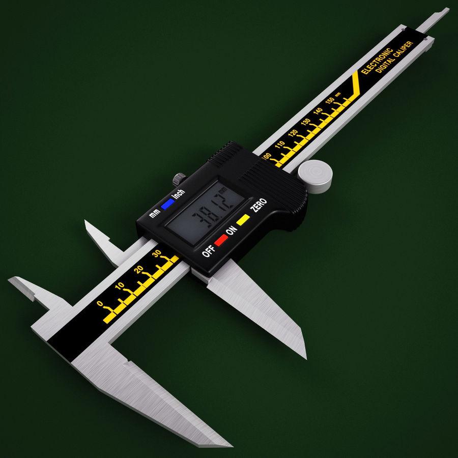 Compasso de calibre digital eletrônico royalty-free 3d model - Preview no. 5