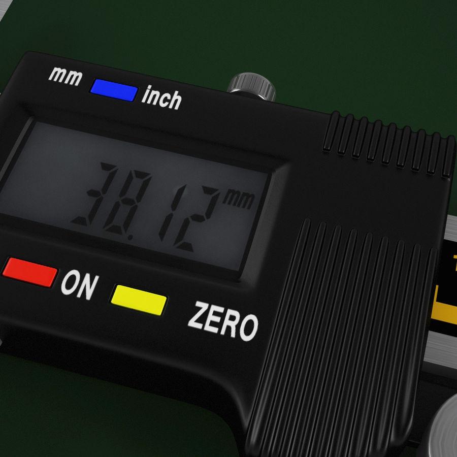 Compasso de calibre digital eletrônico royalty-free 3d model - Preview no. 11
