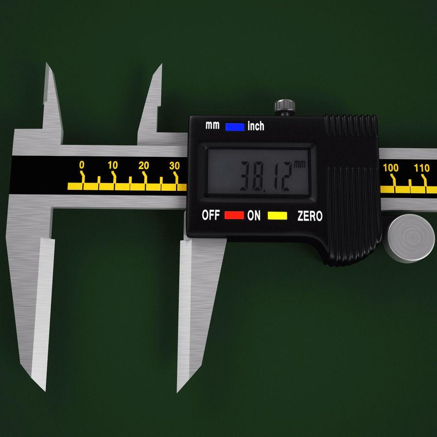 Compasso de calibre digital eletrônico royalty-free 3d model - Preview no. 6