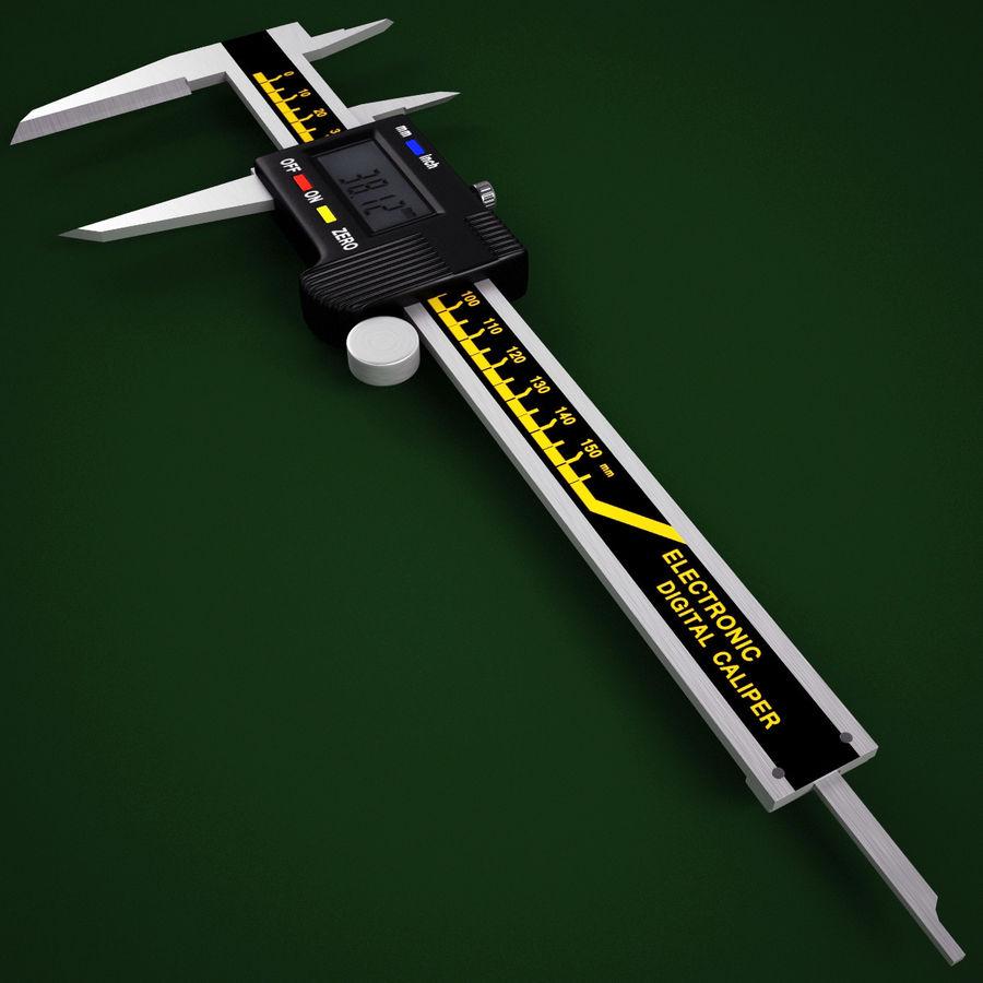 Compasso de calibre digital eletrônico royalty-free 3d model - Preview no. 3