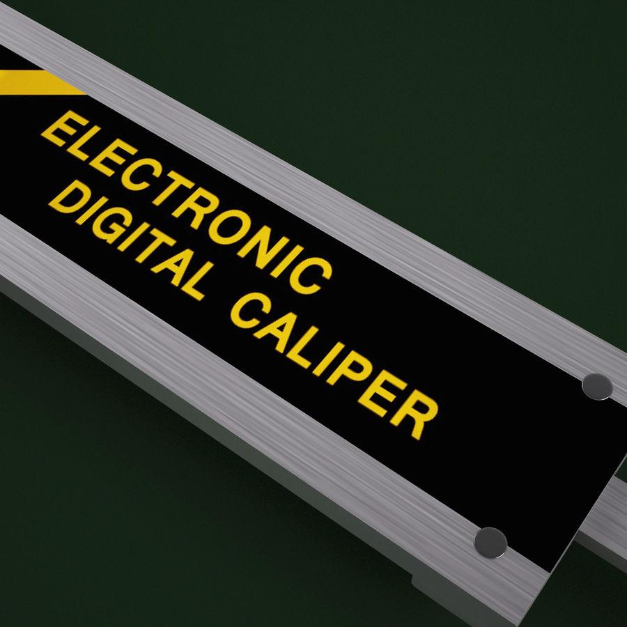 Compasso de calibre digital eletrônico royalty-free 3d model - Preview no. 8