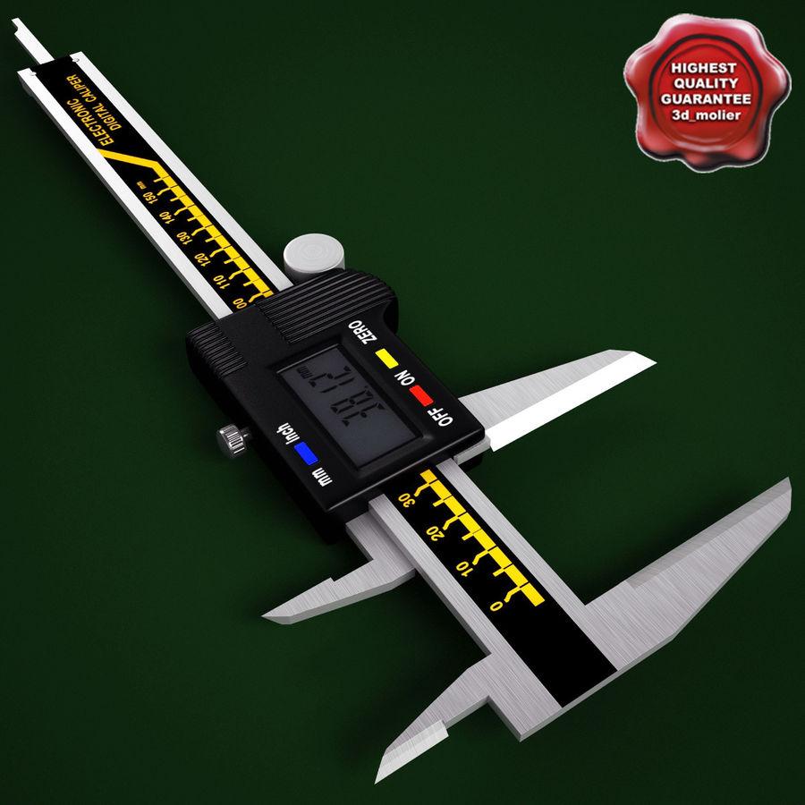 Compasso de calibre digital eletrônico royalty-free 3d model - Preview no. 1