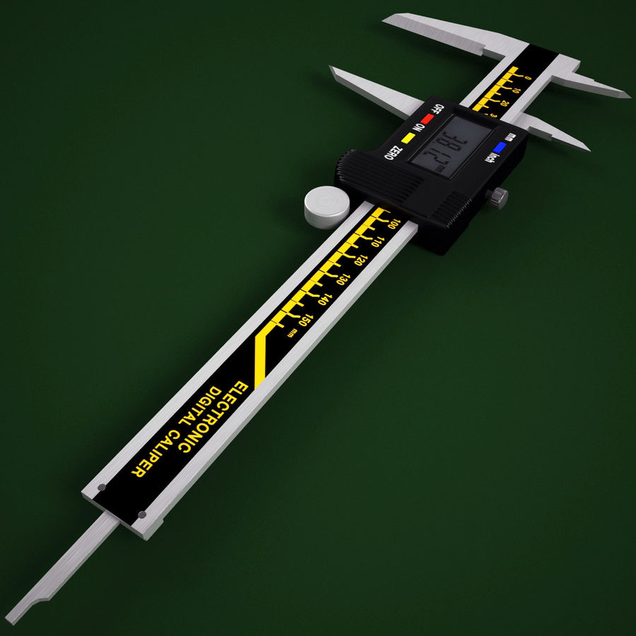 Compasso de calibre digital eletrônico royalty-free 3d model - Preview no. 4