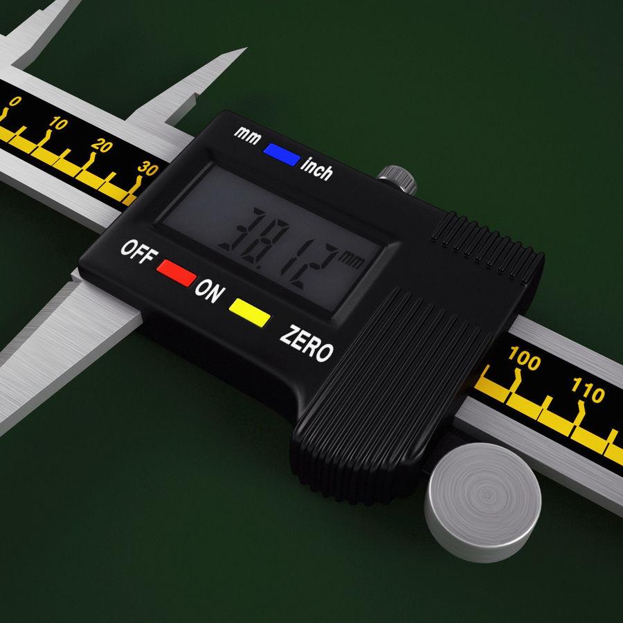 Compasso de calibre digital eletrônico royalty-free 3d model - Preview no. 10