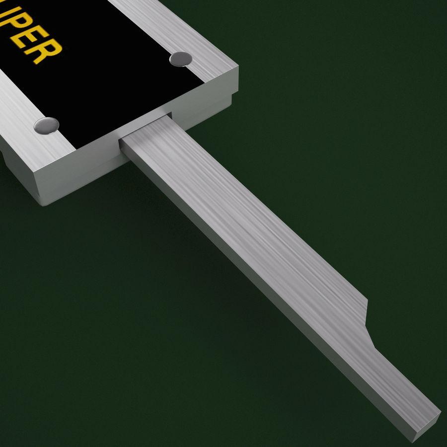 Compasso de calibre digital eletrônico royalty-free 3d model - Preview no. 7
