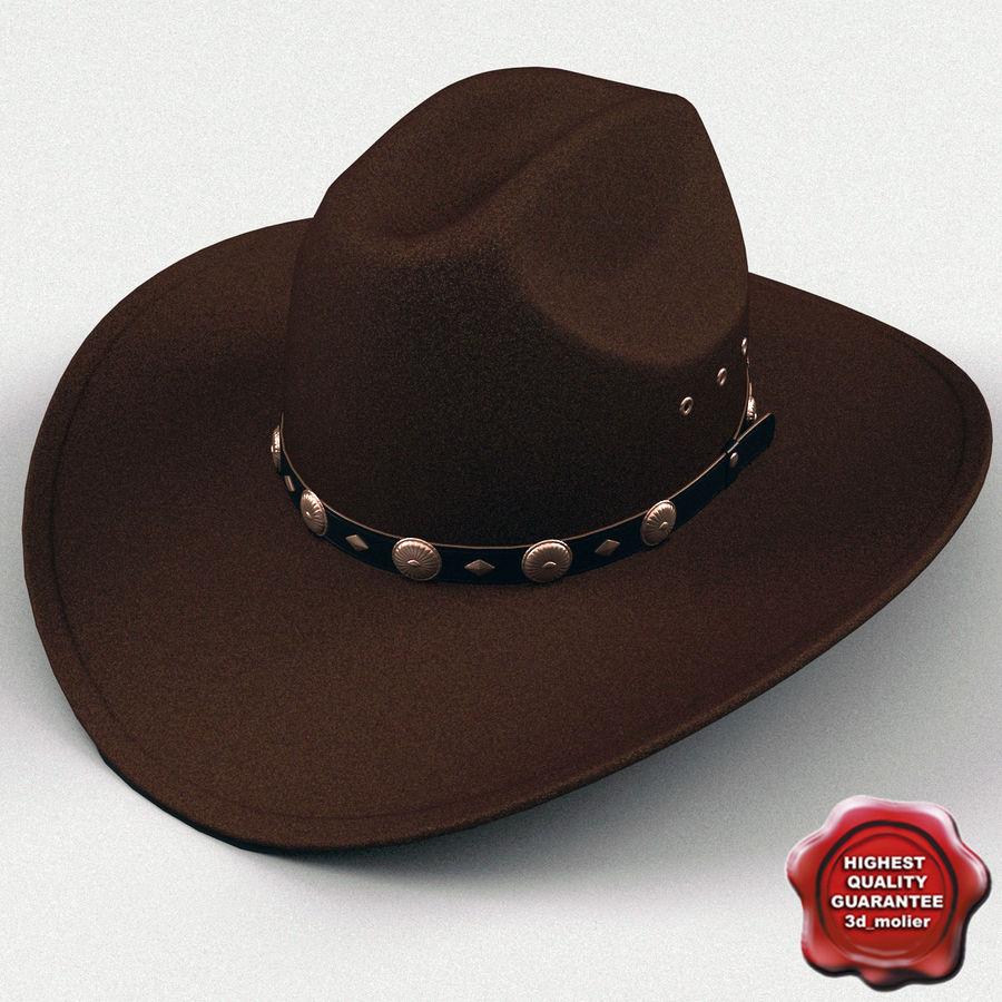 Sombrero de vaquero v4 Modelo 3D  28 - .xsi .obj .ma .lwo .c4d .3ds ... 94c41f87d65