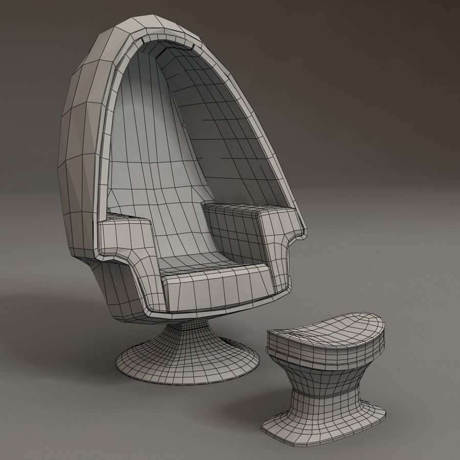 Egg Chair royalty-free 3d model - Preview no. 5