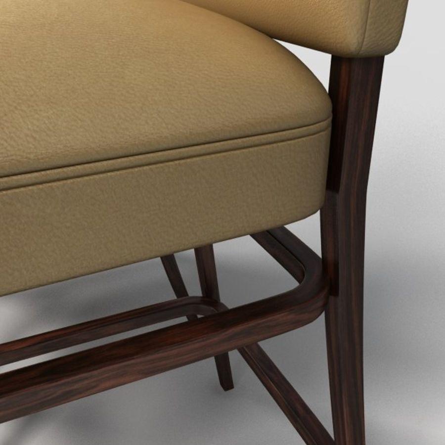 Jadalnia Krzesło I Bar Stołek royalty-free 3d model - Preview no. 8