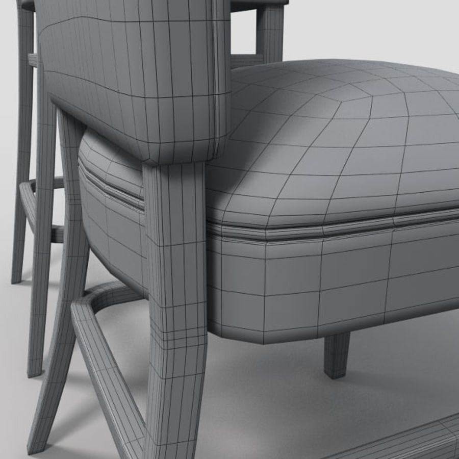Jadalnia Krzesło I Bar Stołek royalty-free 3d model - Preview no. 12