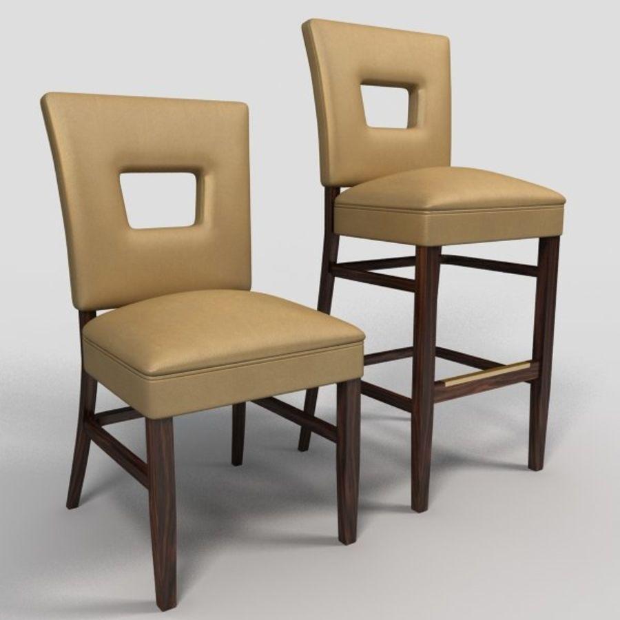 Jadalnia Krzesło I Bar Stołek royalty-free 3d model - Preview no. 1