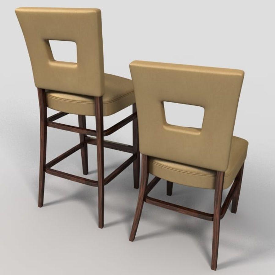 Jadalnia Krzesło I Bar Stołek royalty-free 3d model - Preview no. 9