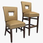 Jadalnia Krzesło I Bar Stołek 3d model