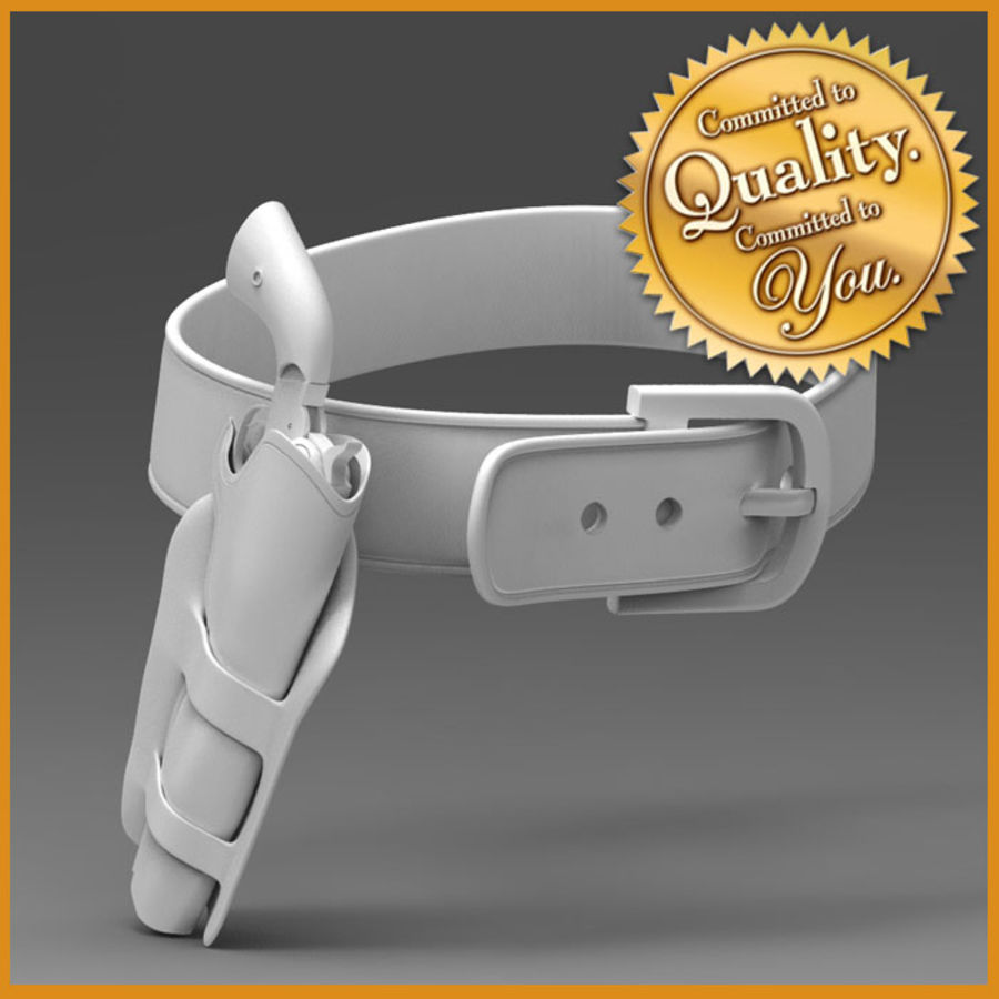 CowBoy Pistol with Case and Belt royalty-free 3d model - Preview no. 1
