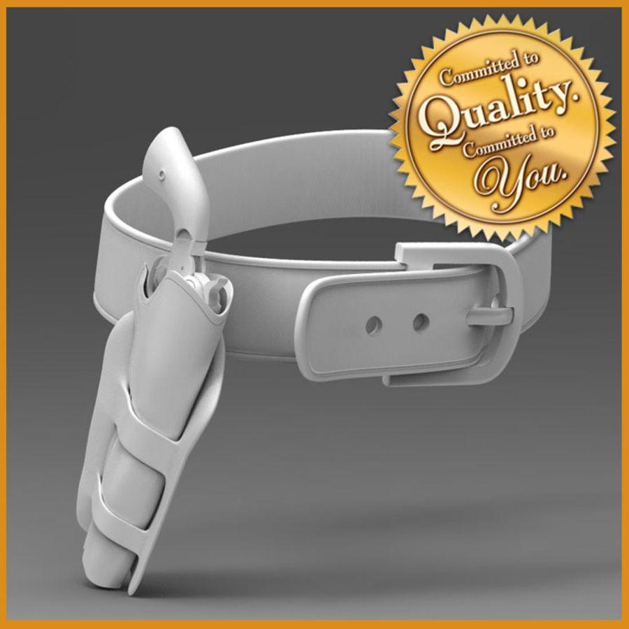 Pistolet CowBoy z futerałem i pasem royalty-free 3d model - Preview no. 1