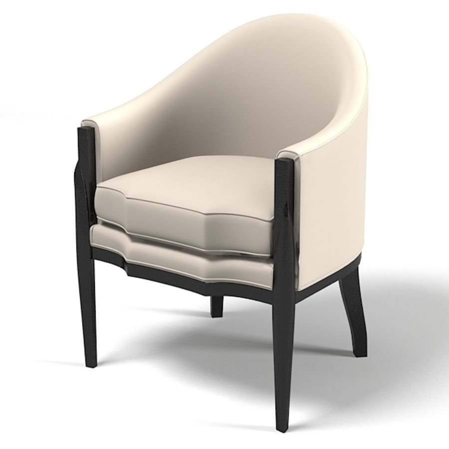 Eve furniture ebas modern art deco contemporary club chair armchair royalty-free 3d model - Preview no. 1
