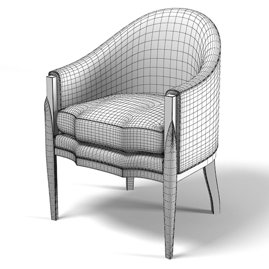 Eve furniture ebas modern art deco contemporary club chair armchair royalty-free 3d model - Preview no. 3