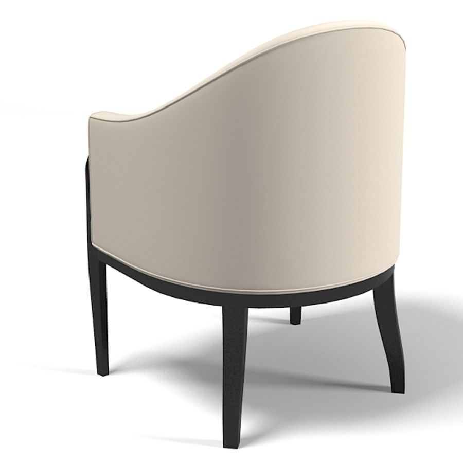 Eve furniture ebas modern art deco contemporary club chair armchair royalty-free 3d model - Preview no. 2