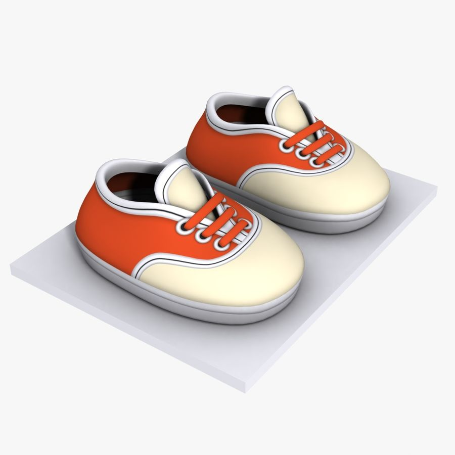 Cartoon Shoes 02(5テクスチャバリエーション) royalty-free 3d model - Preview no. 1
