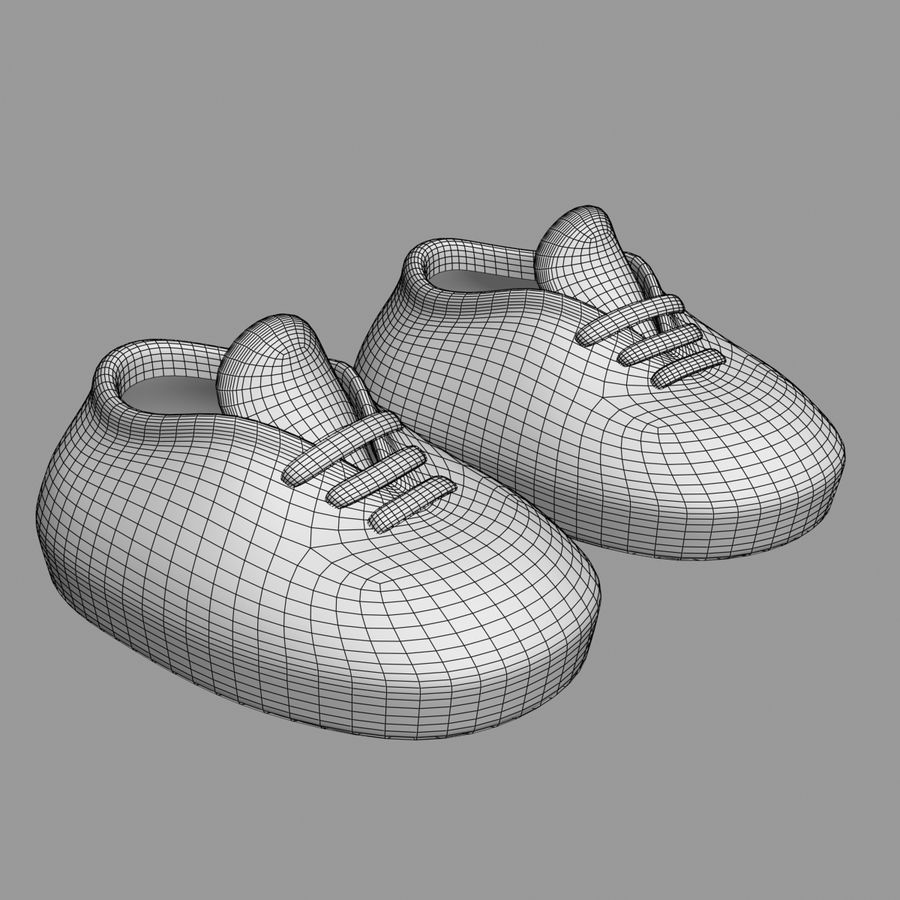 Cartoon Shoes 02(5テクスチャバリエーション) royalty-free 3d model - Preview no. 10
