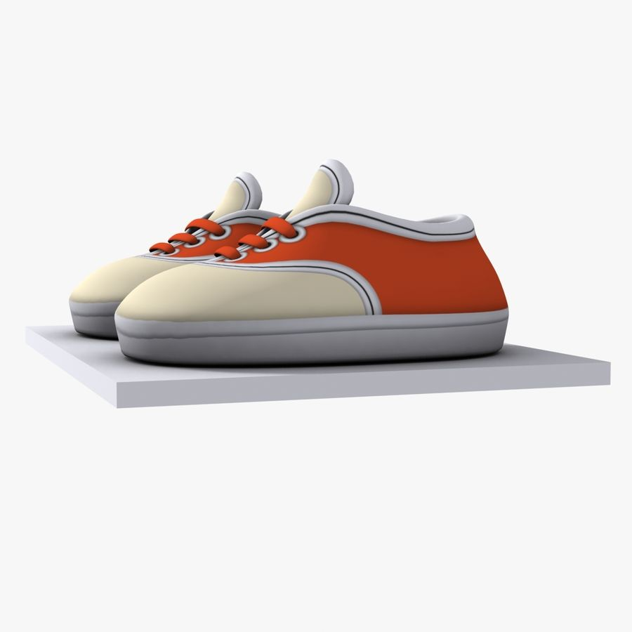 Cartoon Shoes 02(5テクスチャバリエーション) royalty-free 3d model - Preview no. 3