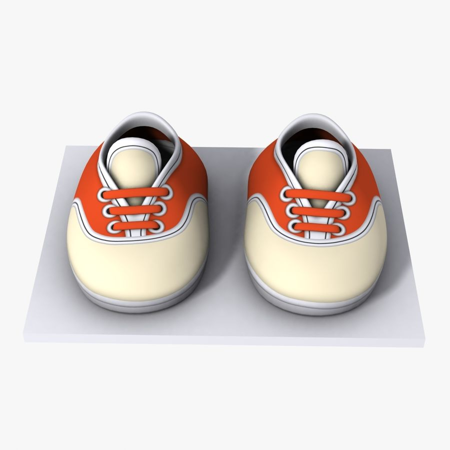 Cartoon Shoes 02(5テクスチャバリエーション) royalty-free 3d model - Preview no. 2