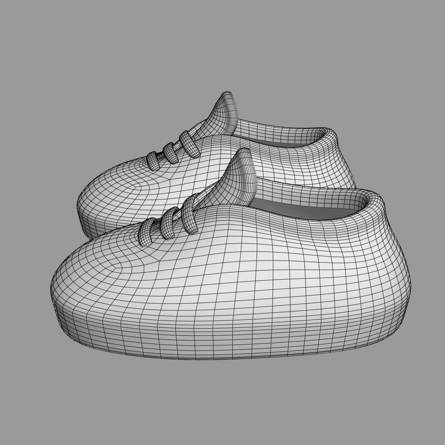 Cartoon Shoes 02(5テクスチャバリエーション) royalty-free 3d model - Preview no. 12