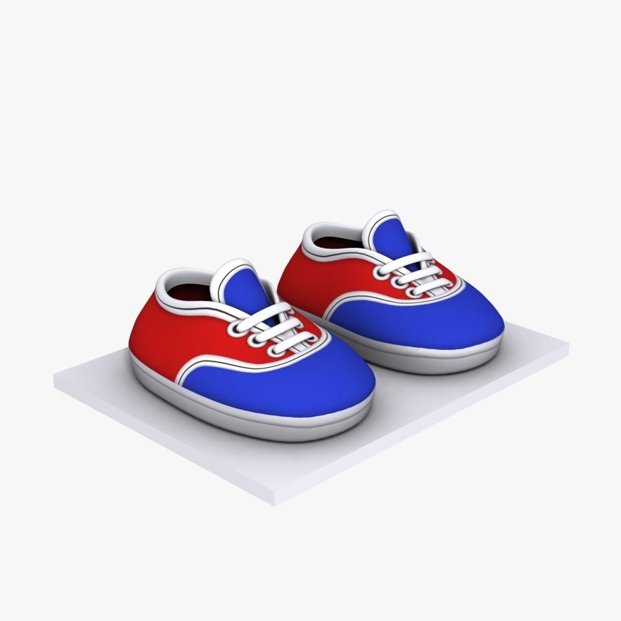 Cartoon Shoes 02(5テクスチャバリエーション) royalty-free 3d model - Preview no. 8