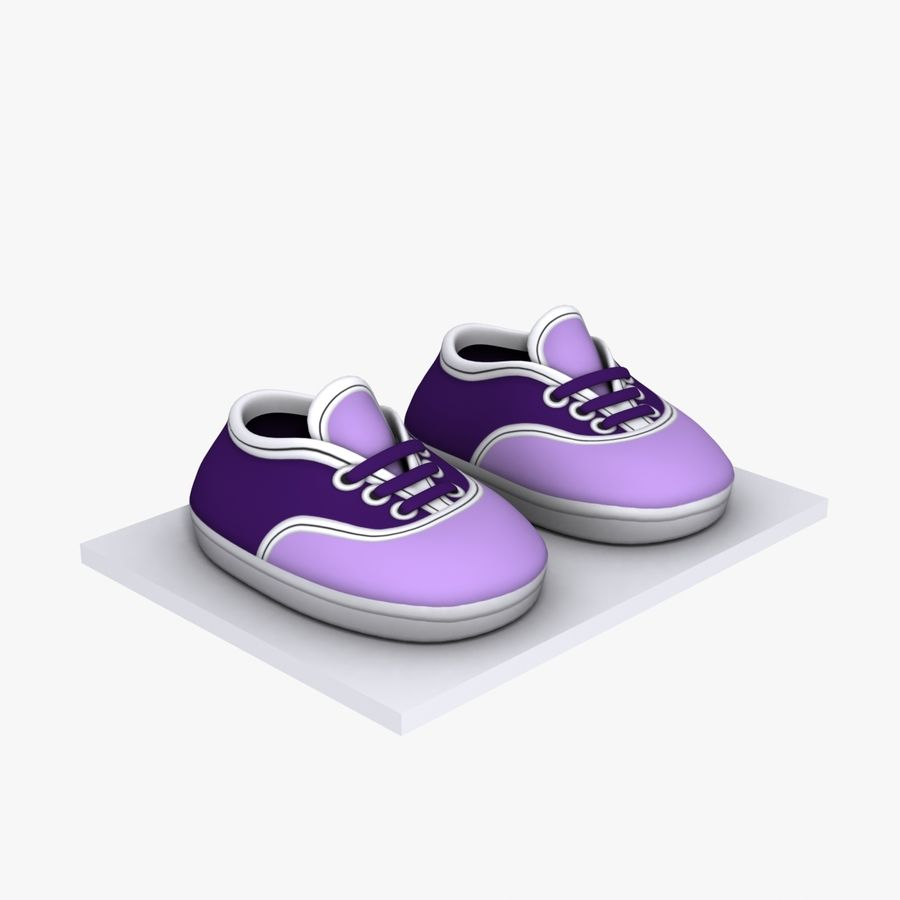 Cartoon Shoes 02(5テクスチャバリエーション) royalty-free 3d model - Preview no. 7