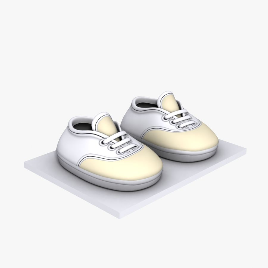 Cartoon Shoes 02(5テクスチャバリエーション) royalty-free 3d model - Preview no. 6