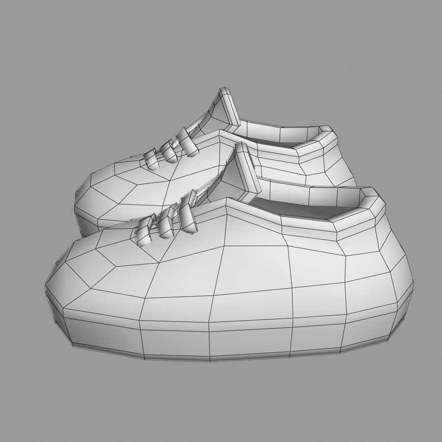 Cartoon Shoes 02(5テクスチャバリエーション) royalty-free 3d model - Preview no. 11