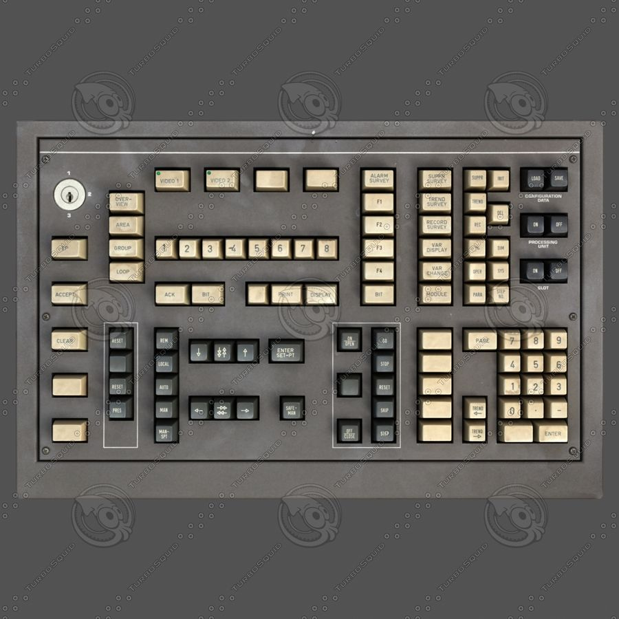 键盘卡座 royalty-free 3d model - Preview no. 8