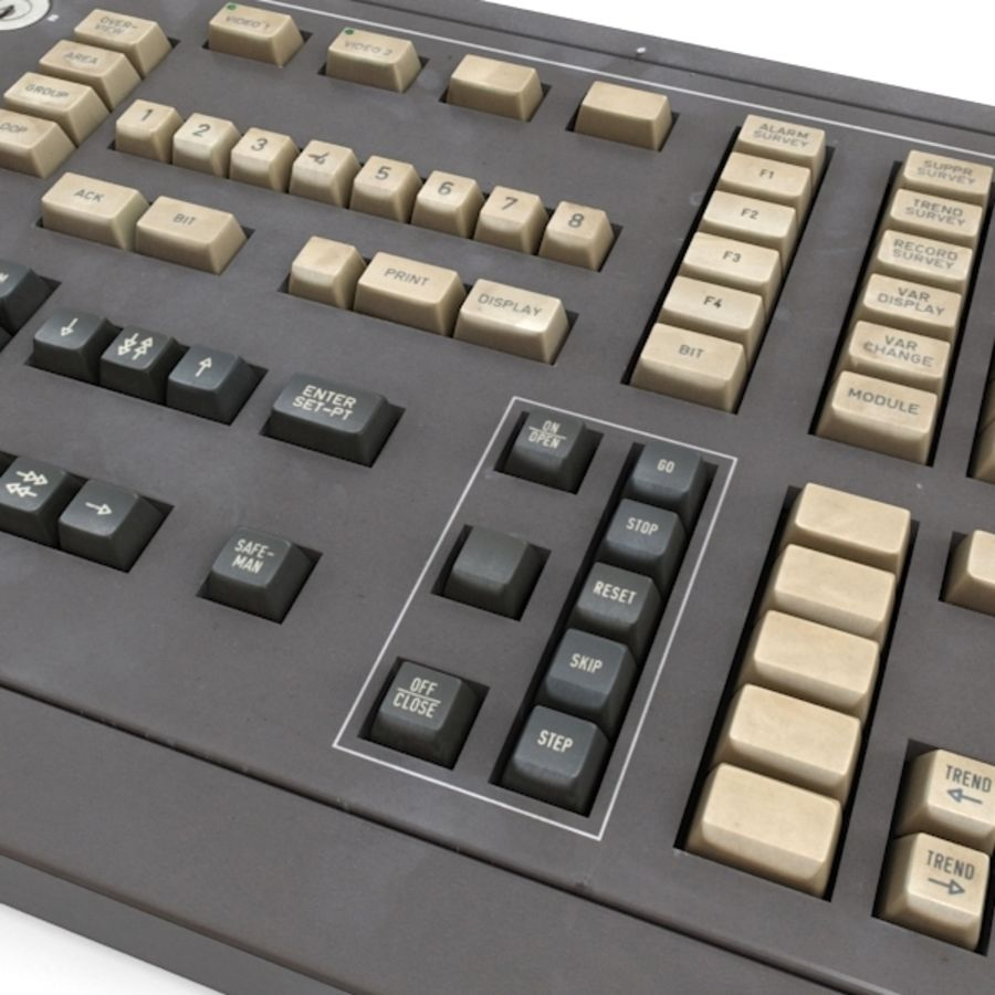 Keyboard Deck royalty-free 3d model - Preview no. 4