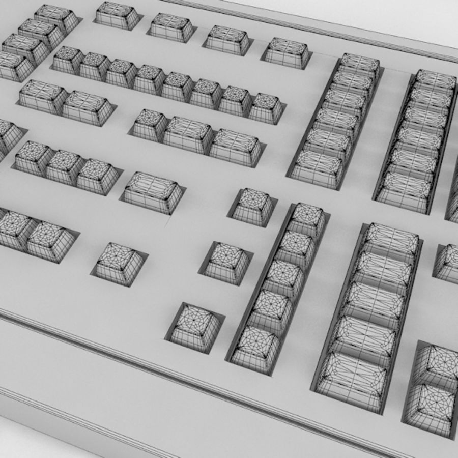 Keyboard Deck royalty-free 3d model - Preview no. 6