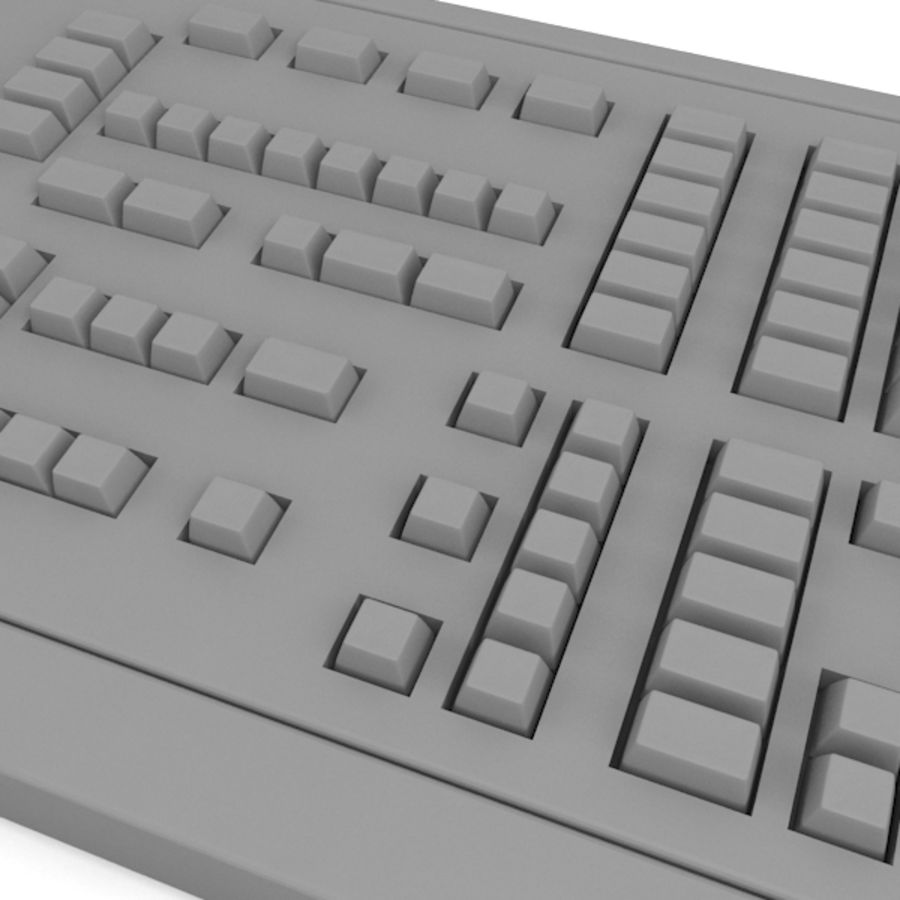 Keyboard Deck royalty-free 3d model - Preview no. 5