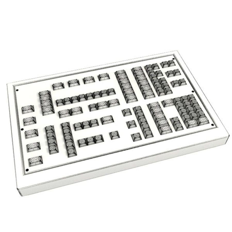 键盘卡座 royalty-free 3d model - Preview no. 3