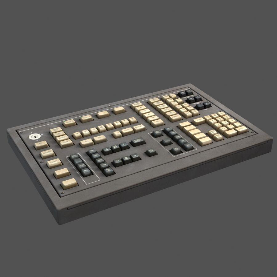 键盘卡座 royalty-free 3d model - Preview no. 7