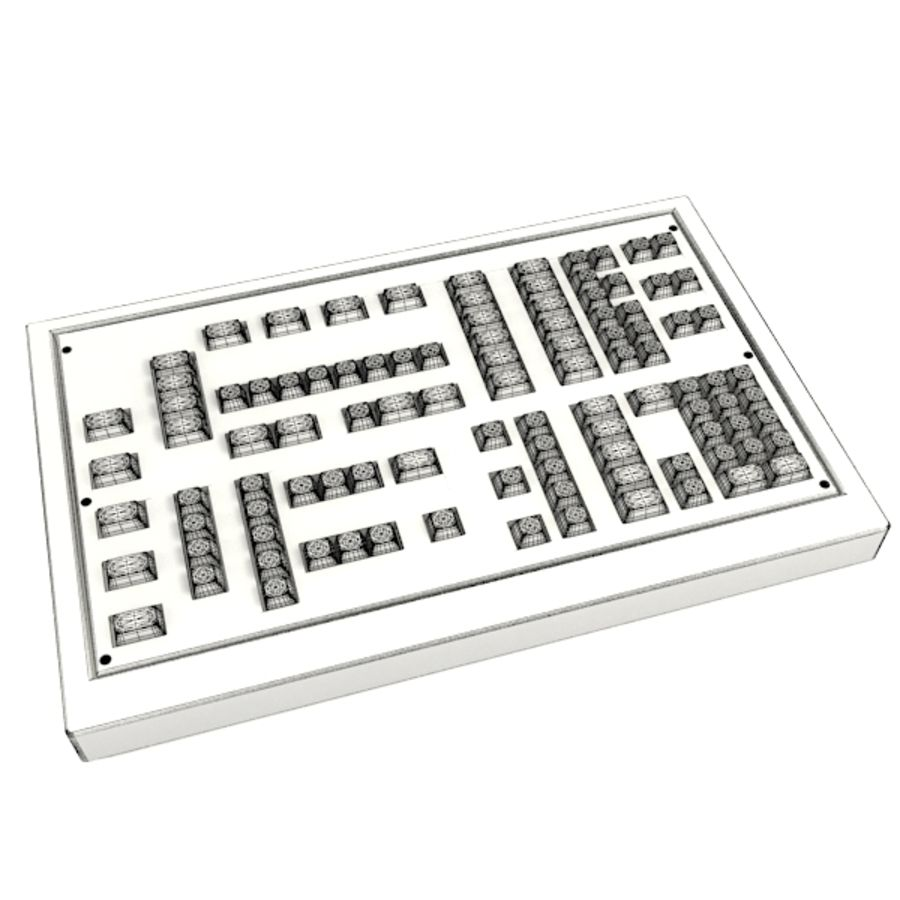 Keyboard Deck royalty-free 3d model - Preview no. 3