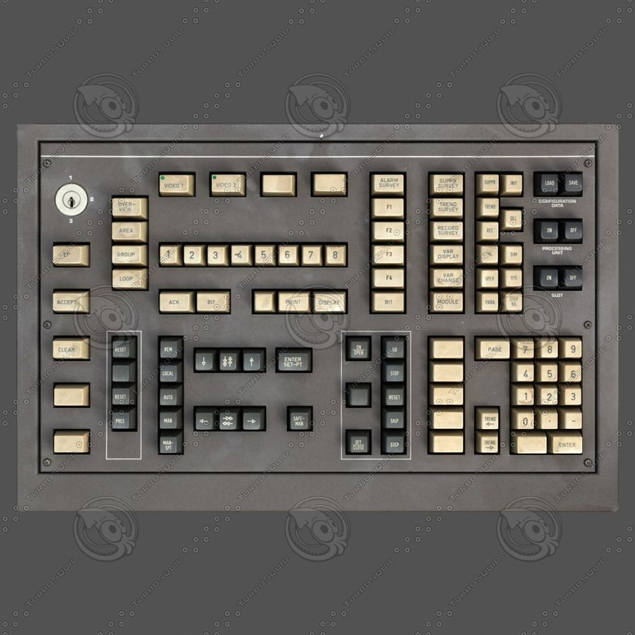 Keyboard Deck royalty-free 3d model - Preview no. 8