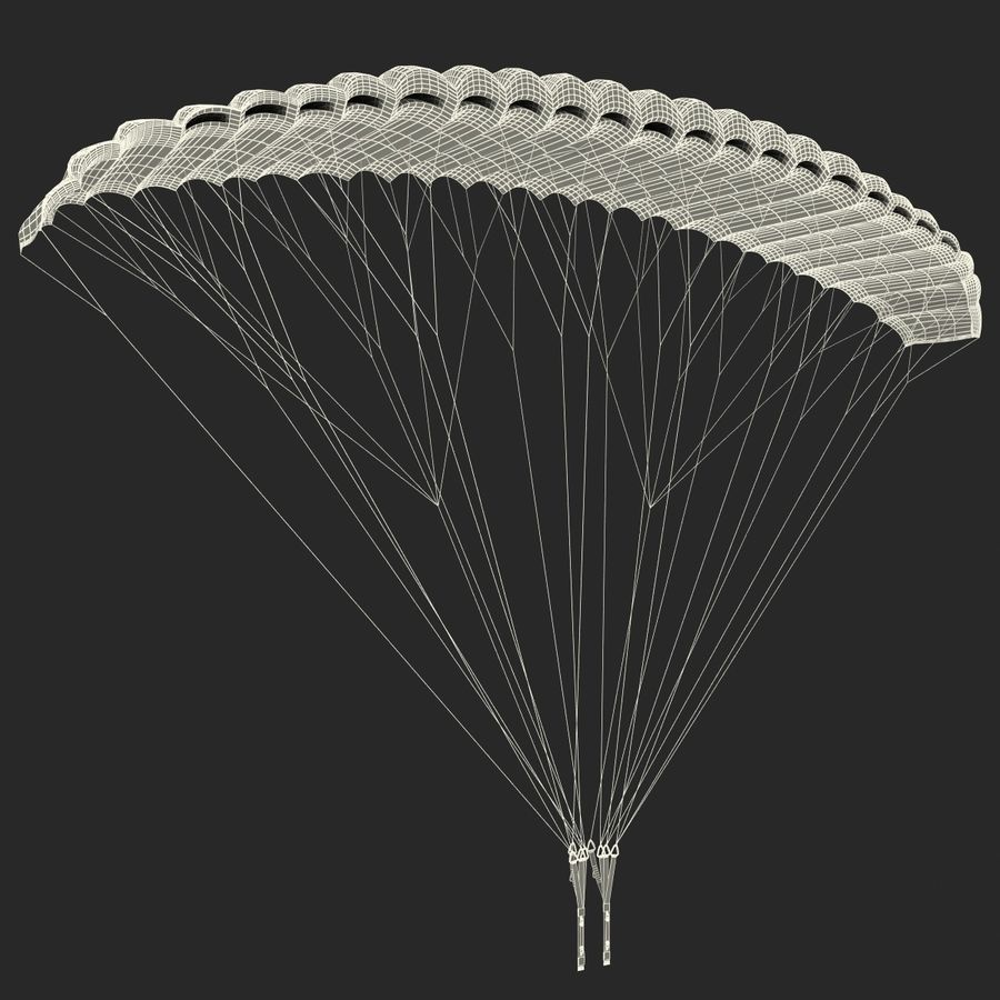 Paragliding royalty-free 3d model - Preview no. 14