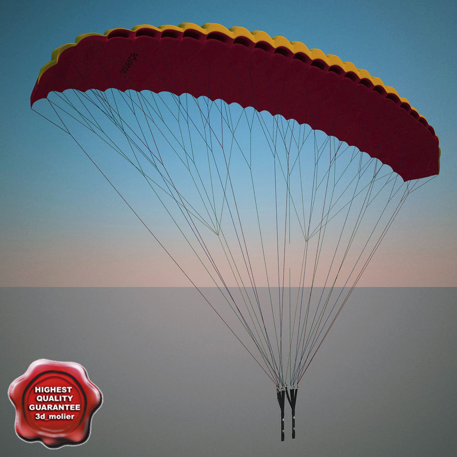 Paragliding royalty-free 3d model - Preview no. 1