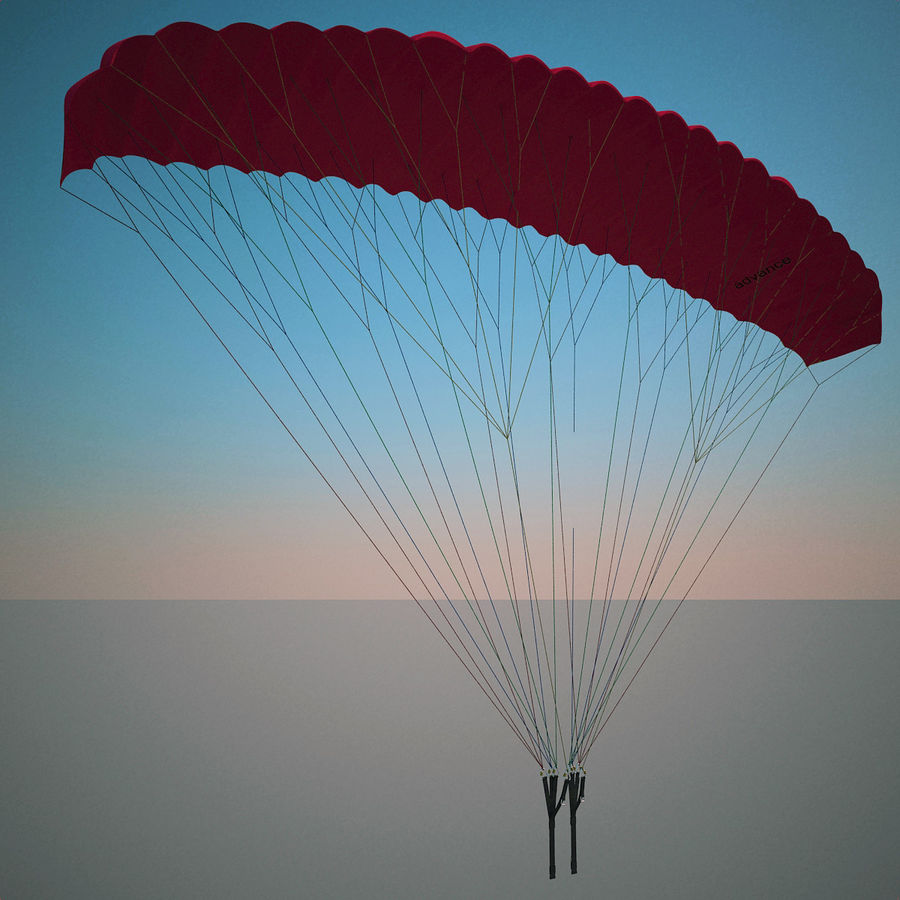 Paragliding royalty-free 3d model - Preview no. 2