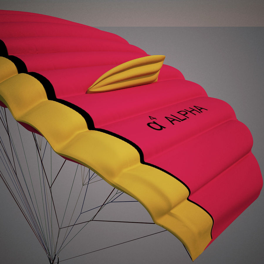 Paragliding royalty-free 3d model - Preview no. 7